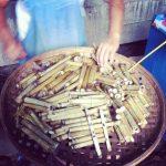 Bambusowe Rurki Z Ryżem