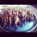 Kurczaki Na Patyku Zakończone Dzyndzlami Od Piwa