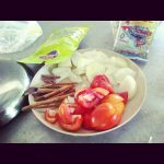 Cebula, Pomidory, Cynamon, Curry