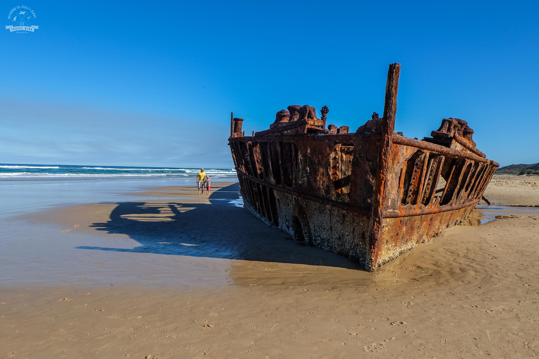 wrak na Fraser Island