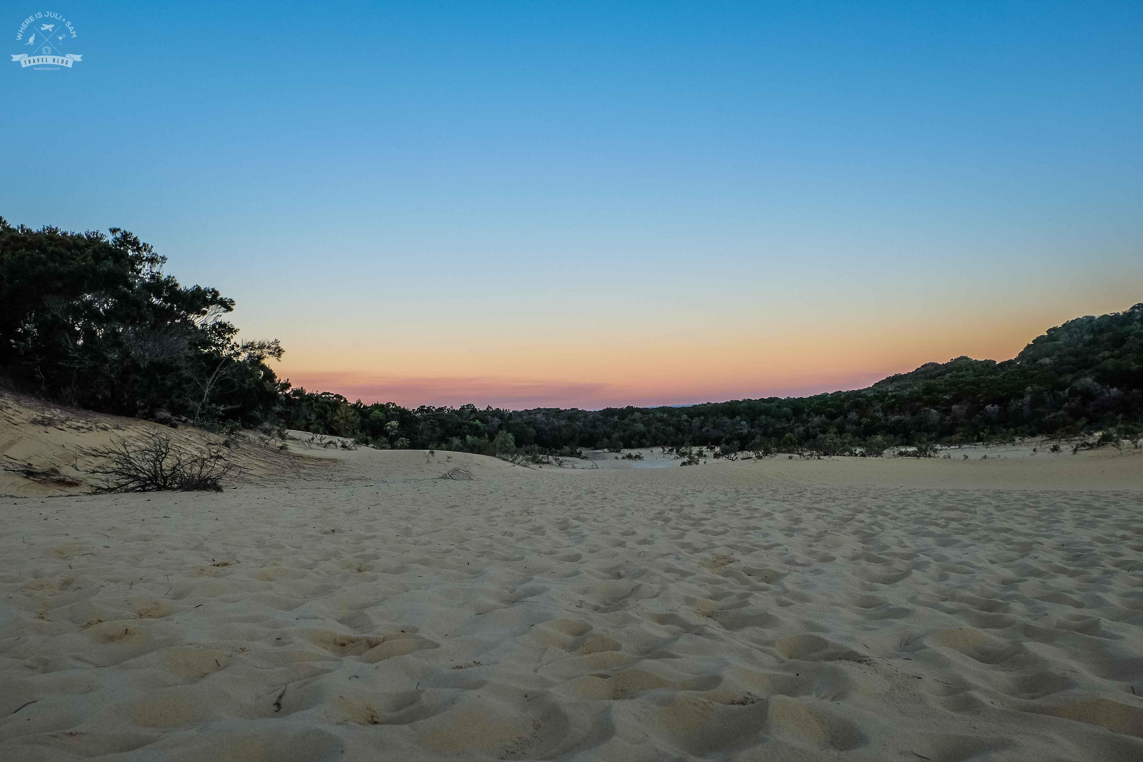 wydmy na Fraser Island