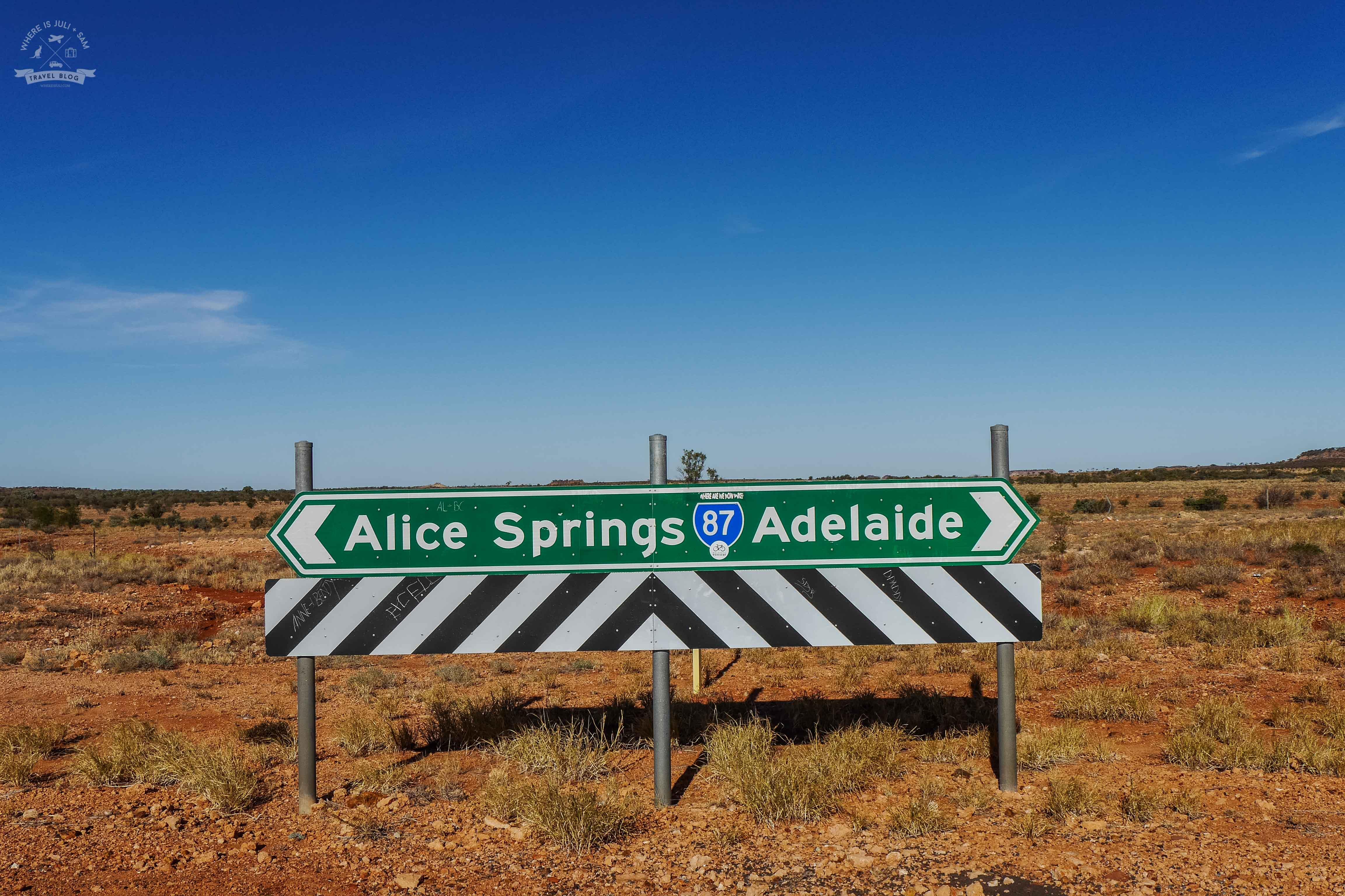 Droga z Alice Springs do Yulara