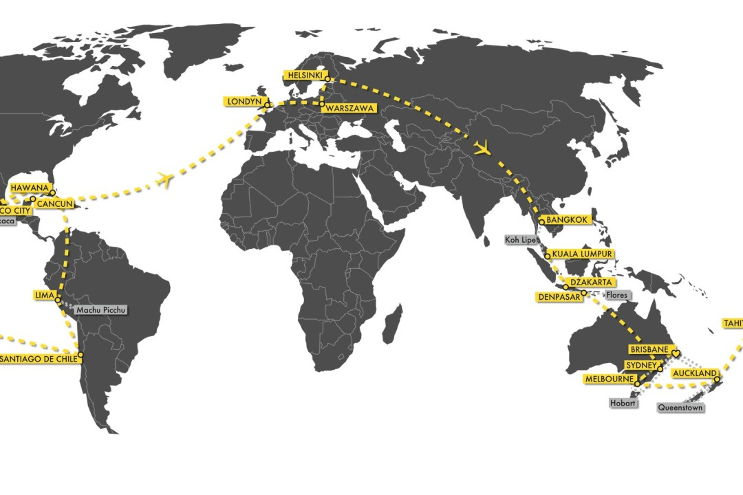 Jak zaplanować trasę podróży dookoła świata